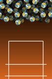 Volleyballfeld und -ball Lot Kugeln Realistisches 3d übertrug Illustration Stockbild