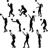 Volleyballfrauenspieler lizenzfreie stockbilder