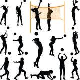 Volleyballfrauenspieler Lizenzfreies Stockbild