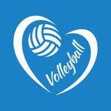 Volleyballherz Lizenzfreie Stockbilder