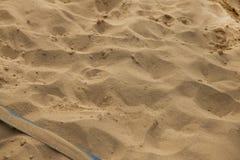 Volleyballhof met lijnen Stock Afbeeldingen