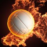 Volleyballkugel im Feuer Stockbilder