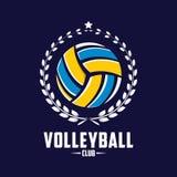 Volleyballlogo, Amerika-Logo, klassisches Logo Stockbild