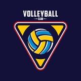 Volleyballlogo, Amerika-Logo, klassisches Logo Lizenzfreie Stockfotografie