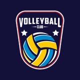 Volleyballlogo, Amerika-Logo, klassisches Logo Lizenzfreies Stockbild