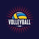 Volleyballlogo, Amerika-Logo, klassisches Logo Stockfotos