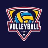 Volleyballlogo, Amerika-Logo, klassisches Logo Stockfoto