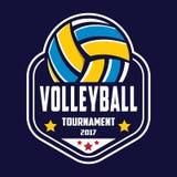 Volleyballlogo, Amerika-Logo, klassisches Logo Lizenzfreies Stockfoto