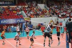 Volleyballmatch-Europäer ligue Lizenzfreies Stockbild