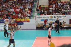 Volleyballmatch-Europäer ligue Stockfotografie