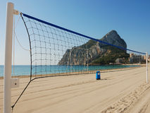 Volleyballnetz Stockfotografie
