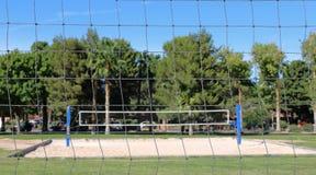 Volleyballnetze Stockfotografie