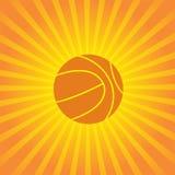 Volleyballontwerp over zonnestraal achtergrondvector Stock Fotografie