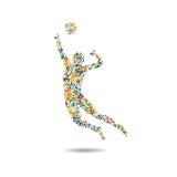 Volleyballpictogram, het pictogram van Rio, illustratie Royalty-vrije Stock Foto's