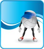 Volleyballs character with visor Royalty Free Stock Photography