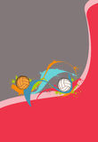 Volleyballs or handball Royalty Free Stock Images