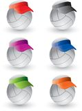 Volleyballs with visors Stock Photography