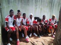 Volleyballspel royalty-vrije stock foto