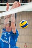 Volleyballspel stock afbeeldingen