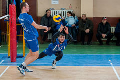 Volleyballspel royalty-vrije stock afbeeldingen