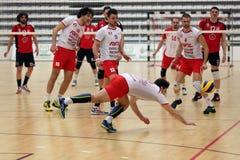 Volleyballspiel Stockfoto