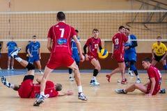 Volleyballspiel Lizenzfreie Stockfotos