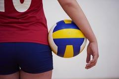 Volleyballvrouw Royalty-vrije Stock Afbeeldingen