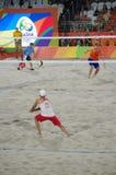 Volleyballwettbewerb des Strandes Rio2016 Stockfotografie