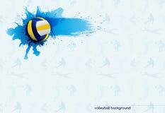 Volleyballzusammenfassung stock abbildung