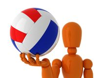 Volleyboll för dig. royaltyfria foton
