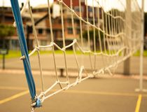 Volleyboll förtjänar på solig dag royaltyfri fotografi
