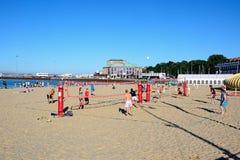 Volleyboll på stranden, Weymouth Arkivfoto