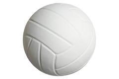 Volleyboll som isoleras på en vit bakgrund med den snabba banan Arkivfoto