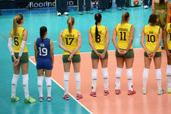 Volleyboll WGP: Brasilien VS USA Arkivfoto