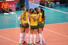 Volleyboll WGP: Brasilien VS USA arkivfoton