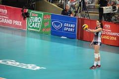Volleyboll WGP: Brasilien VS USA Royaltyfri Bild