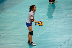 Volleyboll WGP: Dominikan VS Thailand Royaltyfria Bilder