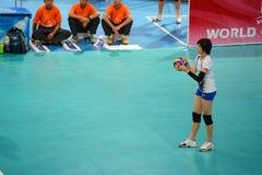 Volleyboll WGP: Dominikan VS Thailand Royaltyfri Bild
