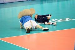 Volleyboll WGP: USA VS thailändskt Royaltyfri Bild