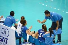 Volleyboll WGP: USA VS thailändskt Arkivfoto