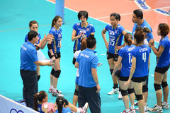Volleyboll WGP: USA VS thailändskt Royaltyfria Foton