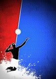 Volleybollbakgrund Arkivbild