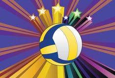 Volleybollbollbakgrund Royaltyfri Foto