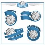 Volleybollemblem Arkivfoto