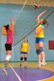 volleybollkvinnor för match s Royaltyfri Bild