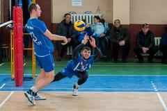 Volleybolllek royaltyfria bilder