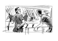 Volleybollsignaler Royaltyfria Foton
