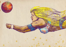 Volleybollspelare, kvinna - no.2 Royaltyfri Bild