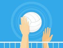 Volleybollsymbol Arkivfoton