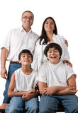 Vollkommene indische Familie Stockfotografie